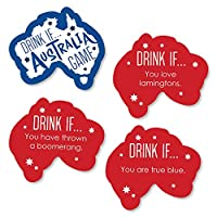 Big Dot of Happiness Drink If Game - オーストラリアデー - G'Day Mate オージーパーティーゲーム - 24個