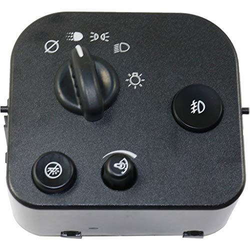 For Isuzu Ascender Headlight Switch 2003 04 05 06 07 2008 | w/Fog Lights | Daytime Running | Light/OFF Mode | 10372952
