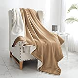 """Walensee Sherpa Fleece Blanket (Queen Size 90""""x90"""" Taupe) Plush Throw Fuzzy Super Soft Reversible Microfiber Flannel Blankets for Couch, Bed, Sofa Ultra Luxurious Warm and Cozy for All Seasons"""