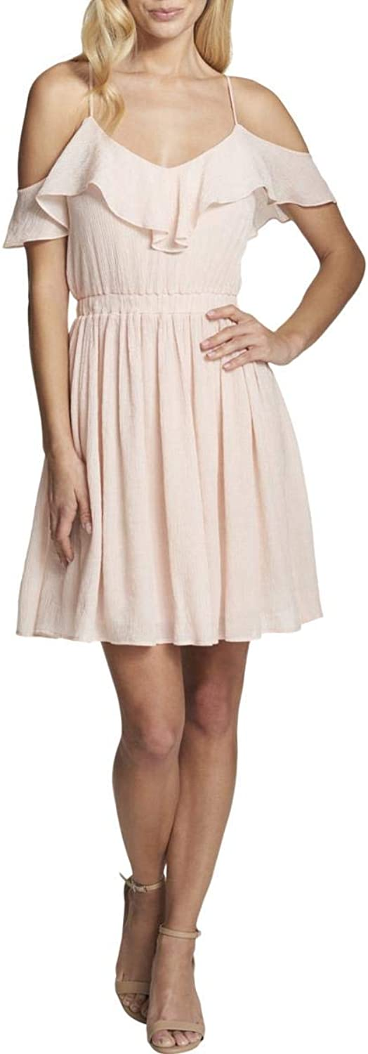 GUESS Womens Cold Shoulder Mini Party Dress
