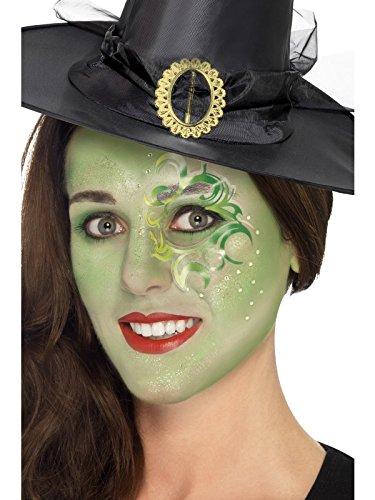 Smiffy's 44410 - Hübsche Hexe Make-Up Kit Gesicht PaintsTattooGeme Aufkleber Lippenstift Glitter GelCrayon und Applikatoren