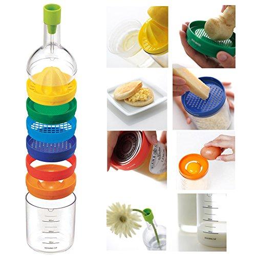 amazingdeal365multiusos Función 8en 1cocina Juego de herramientas universal cocina gadget Cocina Herramientas de botellas para Zumo, pasar, ralladores