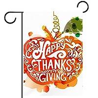 ガーデンサイン庭の装飾屋外バナー垂直旗手描きの幸せな感謝祭 オールシーズンダブルレイヤー