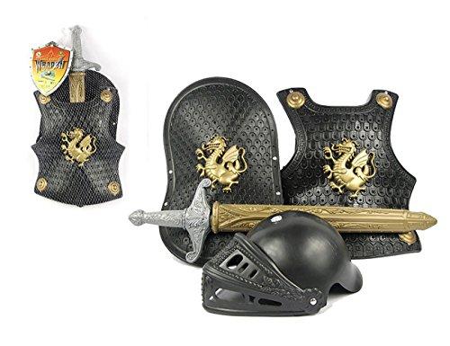 THEE Mittelalter Brustpanzer Ritter Rüstung Kostüm für Kinder Halloween Karneval Fasching Spielzeug Weinachten Geschenk