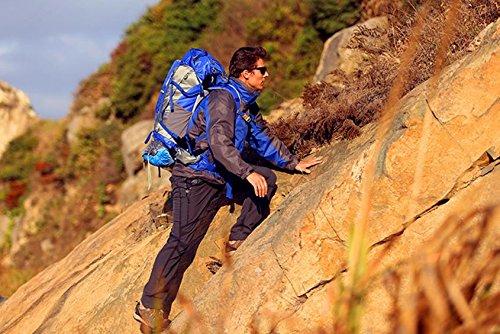 Hommes et femmes voyage sac à dos outdoor sac 50 + 5 L sac d'alpinisme randonnée sac à dos outdoor professionnel Pack , blue