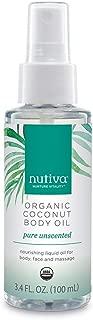 Nutiva Organic Coconut Body Oil Unscented, 3.4-ounce