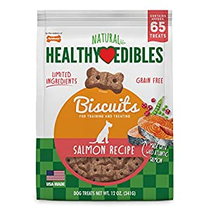 Nylabone Healthy Edibles Dog Treat Biscuits Salmon