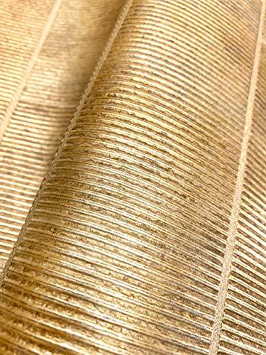 NEWROOM Tapete Gold Vliestapete Leicht Glänzend - 3D-Optik Glamour Stein Struktur Uni Industrial Steintapete inkl. Tapezier-Ratgeber