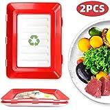 FoodPreservationTray, Praktische Bento-Box BPA-frei, Vorratsdosen-Set für Aufschnitt mit integrierter Servierplatte. Foodcenter Frischhaltedosen für den Kühlschrank