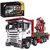 DAN DISCOUNTS Technic 3925 bloques de construcción para coche, bloques de construcción 2,4 G, grúa, modelo con motores, bloques de construcción compatibles con Lego