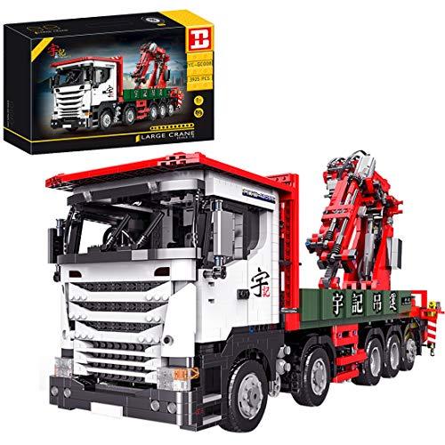 Elroy369Lion YC-GC008 1:8 Technic R560 - Kit de construcción de grúa, 2,4 G y Bluetooth, aplicación de control remoto compatible con Lego Technic (3825 unidades)