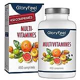 Multivitamines et Minéraux - 450 Comprimés Végétaliens (15 Mois) - Avec tous les Nutriments Essentielles A-Z pour le Systeme Immunitare Hommes et Femmes - Compléments alimentaires de GloryFeel
