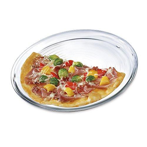 Bohemia Cristal 093006152SIMAX Assiette à Pizza Diamètre 32cm en Verre Borosilicate résistant à la Chaleur Assiette à Pizza, Verre, Transparent, 32x 32x 1,5cm