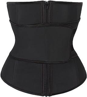 cae9357f6f9 FeelinGirl Women s Latex 9 Steel Boned Breathable Waist Cincher Corset