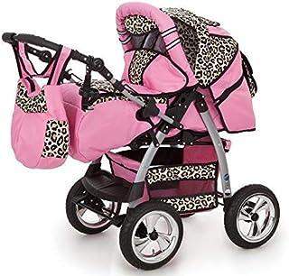 Passeggino Trio 3in1 2in1 Isofix Ovetto Compatto King car by SaintBaby rosa & leopardo 3in1 con Ovetto