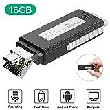 16GB USB Voice Recorder, TENSAFEE Mini Recorder Sound Audio Recorder for Lecture...
