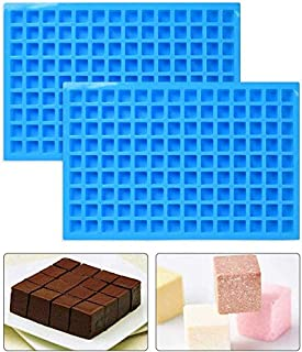 2Pcs 126 Cavity Square Silicone Mold, Mini Candy Molds for Chocolate Gummy Ice Cube Jelly Truffles Pralines Caramels Ganache