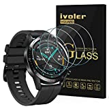 iVoler 4 Pezzi Pellicola Vetro Temperato per Huawei Watch GT2 / Huawei Watch GT 2 46mm, Pellicola Protettiva Protezione per Schermo per Huawei Watch GT2 46mm