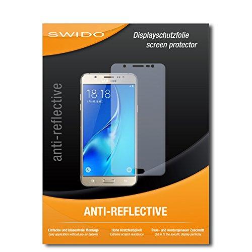 SWIDO Schutzfolie für Samsung Galaxy J7 (2016) [2 Stück] Anti-Reflex MATT Entspiegelnd, Hoher Festigkeitgrad, Schutz vor Kratzer/Bildschirmschutz, Bildschirmschutzfolie, Panzerglas-Folie