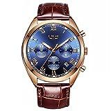 QHG Personalidad Hombre Moda Moda Ocio Impermeable Reloj de Cuarzo Reloj Deportivo Reloj (Color : H)