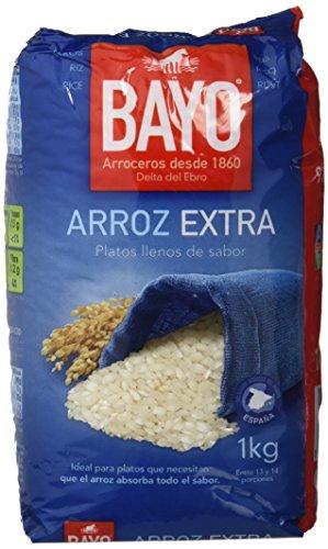 Bayo Arroz Extra Redondo - Paquete de 12 x 1000 gr - Total: 12000 gr