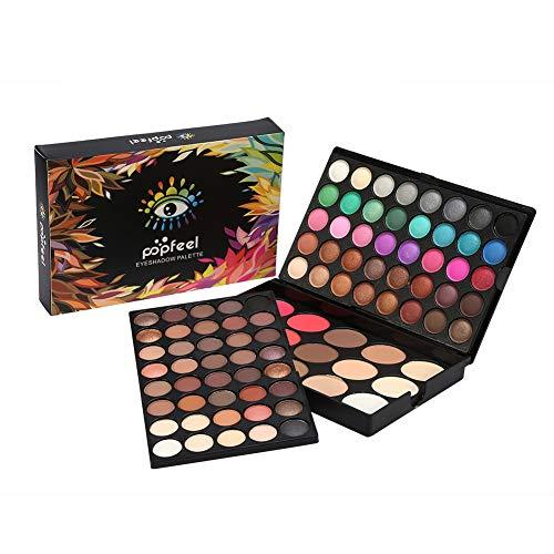 Ombre à paupières professionnelle 80 couleurs + 15 couleurs palette de maquillage contour des yeux fard à joues et correcteur