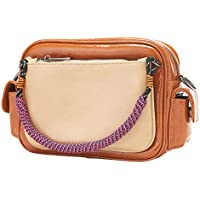 Tmfan Crossbody Shoulder Purse Bags (Brown & Apricot)