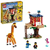 LEGO 31116 Creator 3en1 Casa del Árbol en la Sabana Juguete de construcción de un Barco Catamarán, Avión Biplano y León