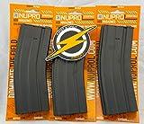 First and Only Airsoft Paquete Triple NUPROL M4 Metal HI-Cap mag Magazine 370 RND y Parche por Primera y única Venta minorista