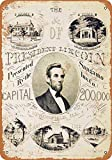 Froy 1865 Abraham Lincoln Print Ad Wand Blechschild Retro