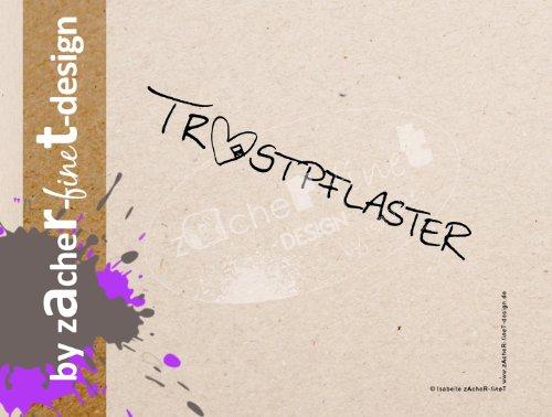 Typostempel handgeschreven trooster & hart - motiefstempel - afbeeldingstempel - tekststempel