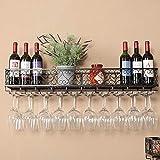 Estante de decoraci/ón de techo para bares restaurantes Barra para colgar Portaequipajes de vidrio y soporte para botellas colgantes Estante de la pared de la barra de vino