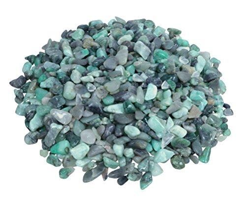 Smaragd Mini Trommelsteine 100 gramm Chips 4-10 mm Durchmesser