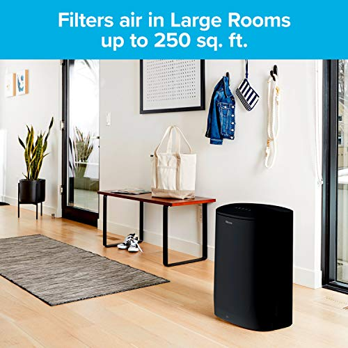 Filtrete Air Purifier, Large Room with True HEPA Filter, Captures 99.97% of Airborne particles such as Smoke, Dust, Pollen, Bacteria, Virus for 250 Sq. Ft. Office, Bedroom, Kitchen and more