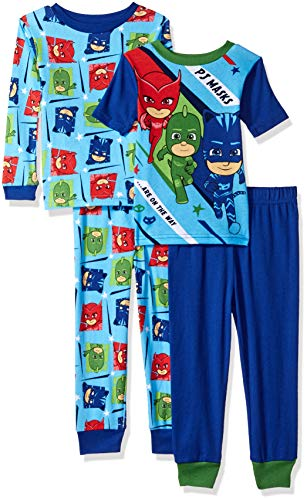 PJ Masks Boys 4-Piece Cotton Pajama Set