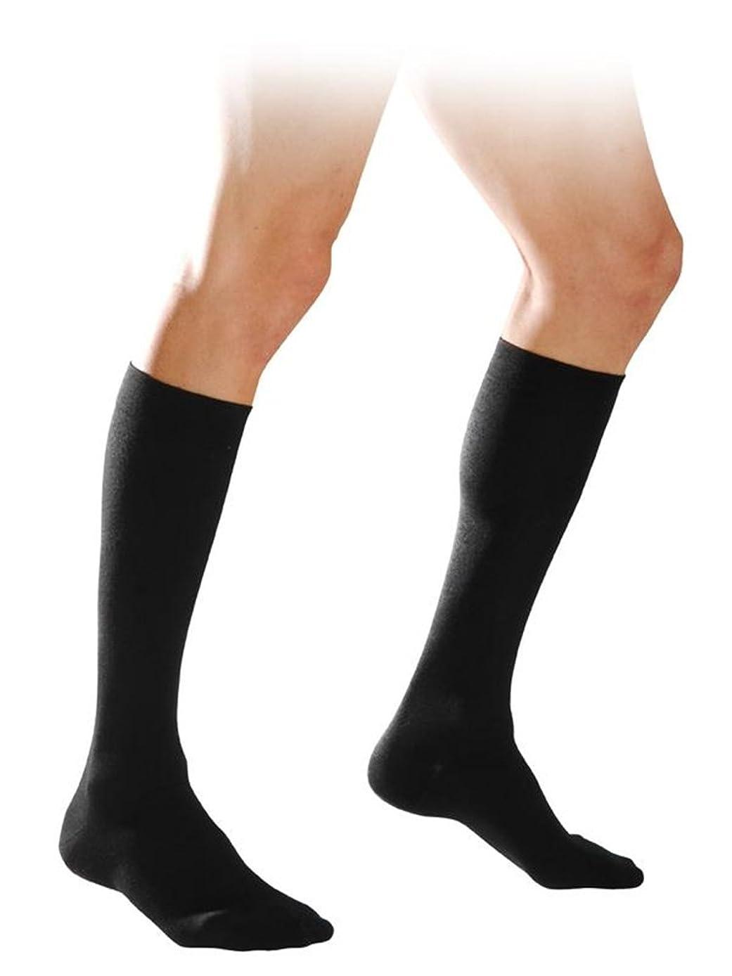酔ってセマフォ消毒する【エコノミー症候群予防】男性用 着圧ソックス (XL, ブラック)