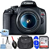 Canon EOS Rebel T7 DSLR Camera with EF-S 18-55mm Lens - Essential Bundle Includes: Ultra 32GB SD, Memory Card Reader, Gadget Bag, Blower, Microfiber Cloth and Cleaning Kit