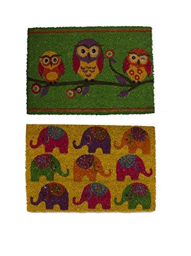 Vical Home Set Felpudo 2 Uds. Animals Verde/Amarillo