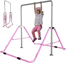 Slsy Gymnastics Bars Kids Kip Training Bars for Home, Folding Horizontal Bars with Adjustable Height, Practice Bar Gymnastic for Kid, Child, Girls, Boys