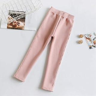MAZS Leggings de Invierno para niñas, Pantalones cálidos para niños, más Pantalones de Encaje, Pantalones Largos Gruesos p...