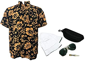 Fear and Loathing in Las Vegas Full Costume Raoul Duke with Dark Green Glasses  M