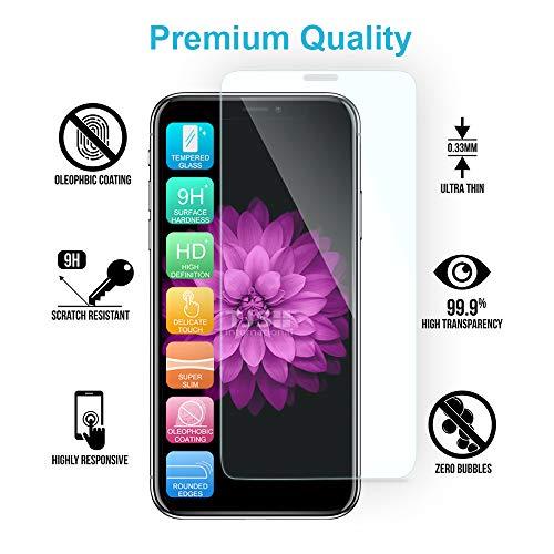TJS Case for Samsung Galaxy J3 Emerge/J3 Prime/Amp Prime 2/Express Prime 2/Sol 2/J3 Mission/J3 Luna Pro/J3 Eclipse, with [Tempered Glass Screen Protector] Hybrid Shockproof Phone Case Armor (Stardust)