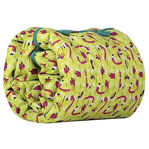 Close Manta de juegos,alfombra gateo bebé grande, impermeable, reversible colores animales 120x120Lala and Busy, Color Verde Pistacho