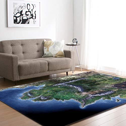Oasis Ecke 3D Teppich, Kurzfloriger Rutschfester Polyesterteppich, Heimdekoration Schlafzimmer Wohnzimmer Balkon 120X170Cm/Xl