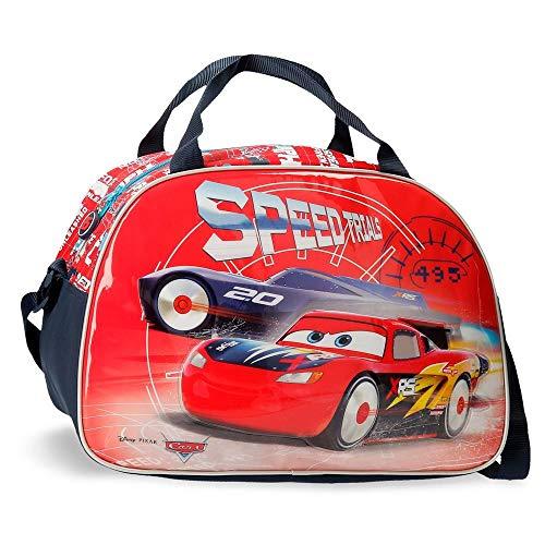 Disney Cars Speed Trails Bolsa de Viaje, Rojo