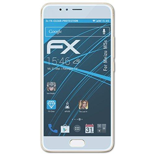 atFolix Schutzfolie kompatibel mit Meizu M5s Folie, ultraklare FX Bildschirmschutzfolie (3X)