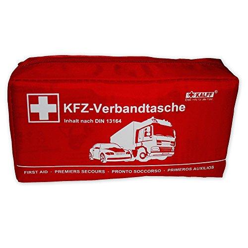 KALFF 7151 KFZ-Verbandtasche DIN Standard DIN 13164 mit Erste-Hilfe Broschüre