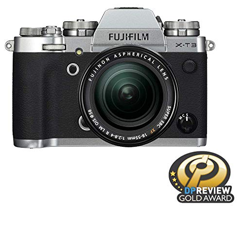 Price comparison product image Fujifilm X-T3 Mirrorless Digital Camera w / XF18-55mm Lens Kit - Silver