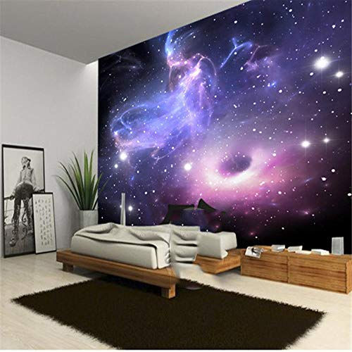XQFZXQ Fototapete -PVC Universum Sterne Galaxie Bar Selbstklebend - 3D Moderne Wanddeko - Design Tapete Children's Room Cartoon Mural Boy Girl Room Decorative painting - Wandtapete - (B)300x(H)210cm