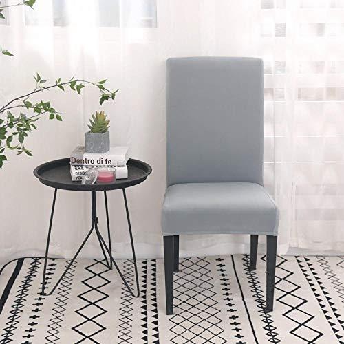 flqwe Abnehmbare Waschbar Stuhlbezug,Spandex Stuhlbezug für Tisch- und Stuhlsitz, Sitzschutzbezug-Light Grey_universal Größen,Stretch Esszimmer Stuhlhussen
